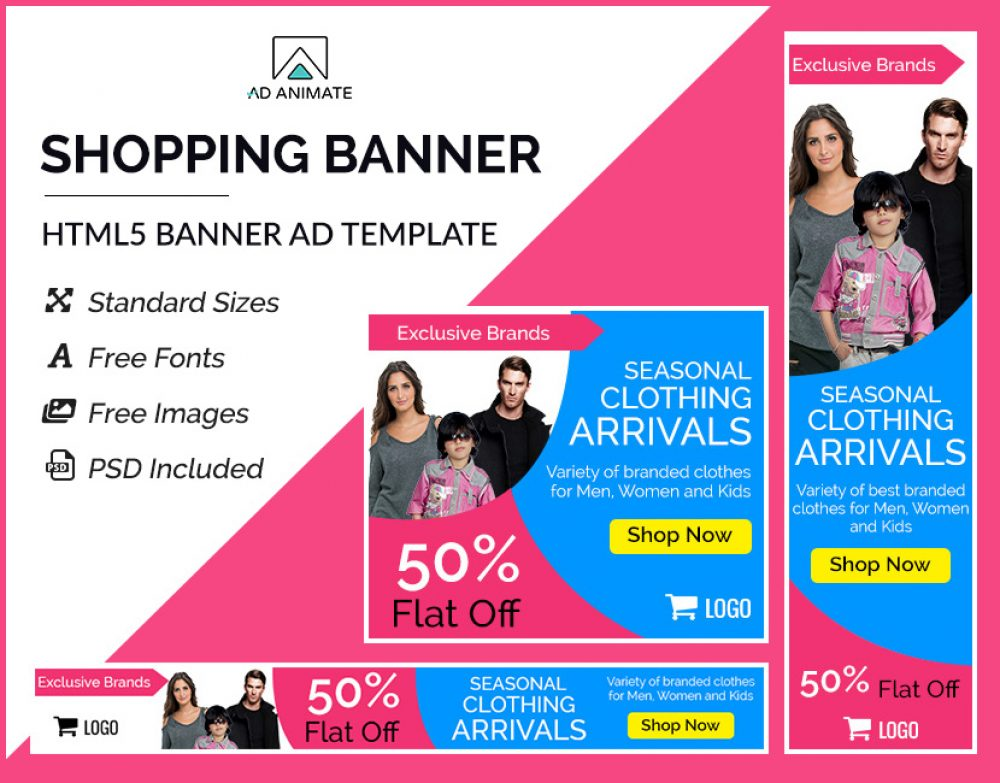 Shopping banner template
