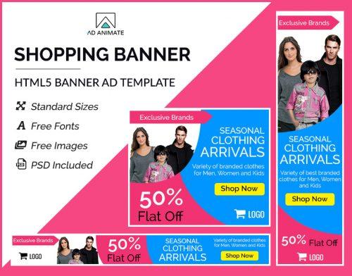 Shopping banner template
