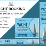 Yacht Booking banner template