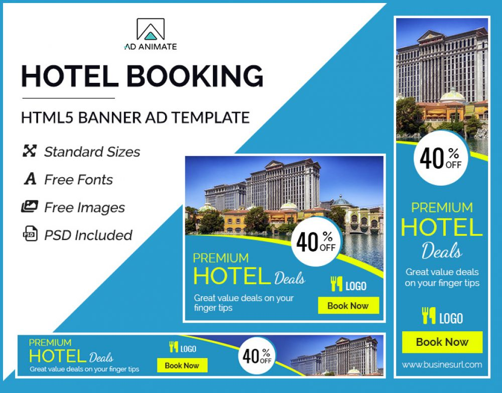 Hotel Booking Banner template