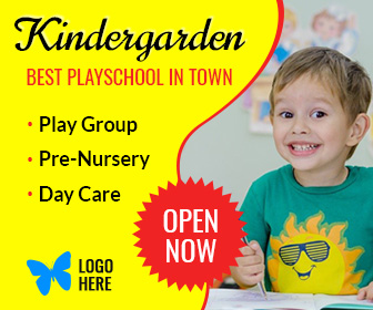 Kindergarten Playschool Banner (EI004)