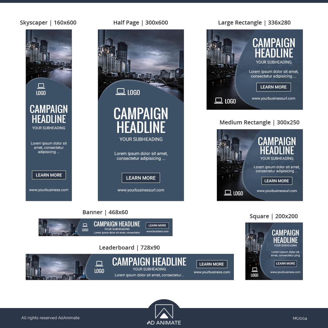 Multipurpose ad banner design