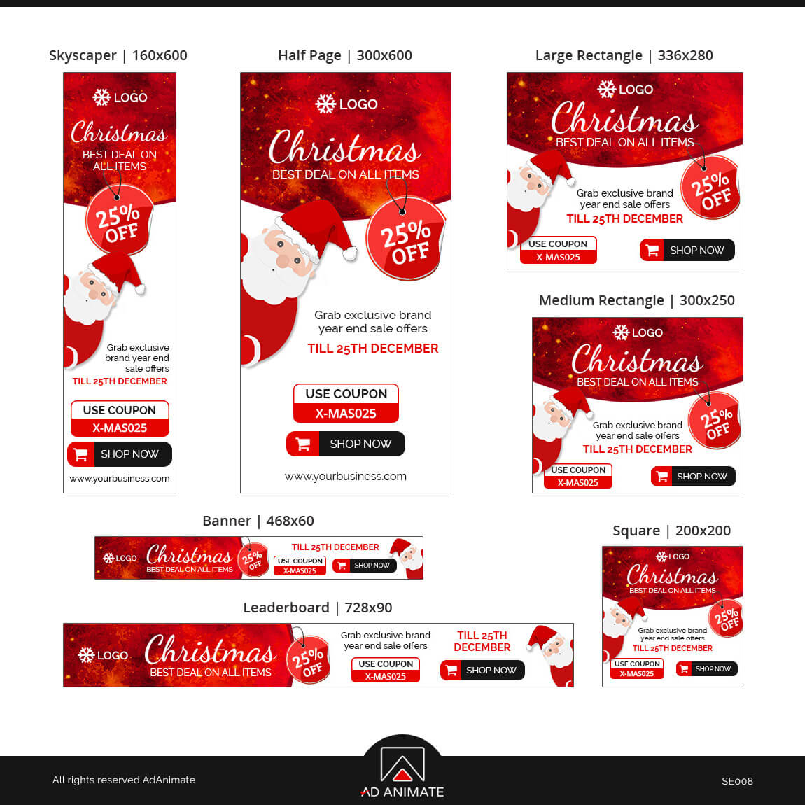Christmas Sale ad banner design