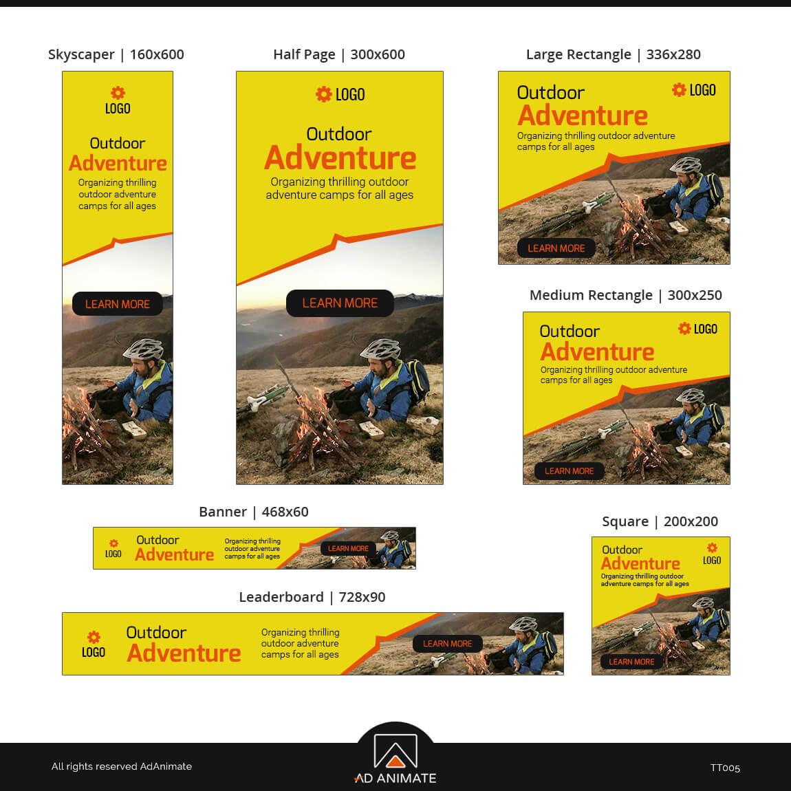 Adventure Camp banner design ad